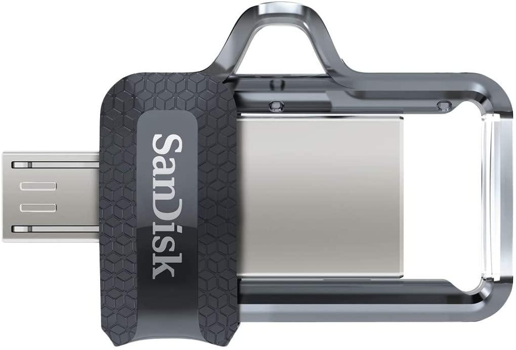 Clé USB 3.0 / micro-USB SanDisk Ultra Dual Drive M3.0 - 16 Go (frais de port inclus)