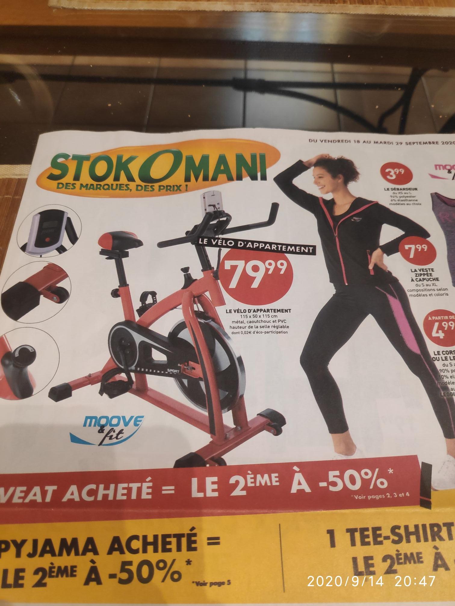 Vélo d'appartement - 115 x 50 x 115 cm
