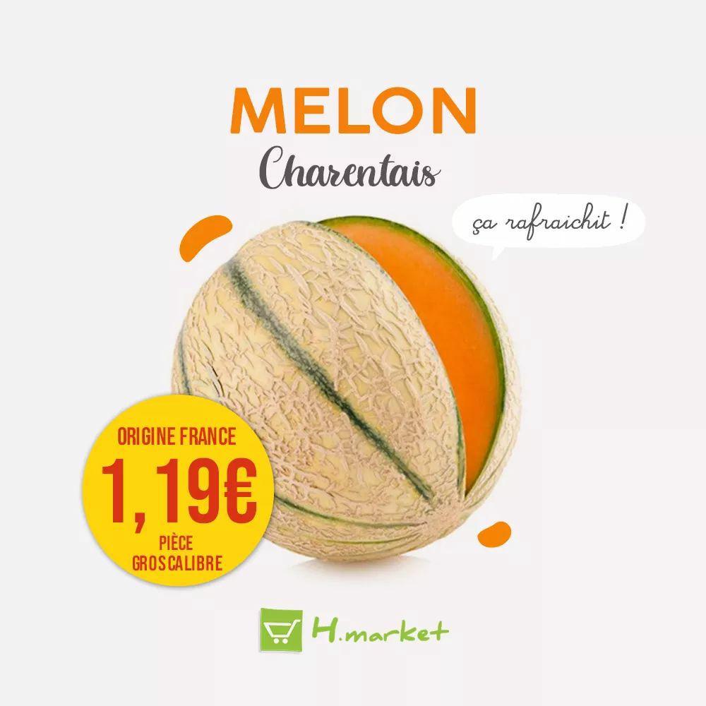 Melon Charentais (Origine France, Gros Calibre) - Hmarket Supermarchés