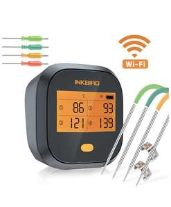 Thermomètre Cuisson WiFi Inkbird IBBQ-4T (Via Coupon - Vendeur Tiers)