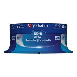 Lot de 25 Blu-rays Verbatim -  BD-R LTH Type - 25 Go