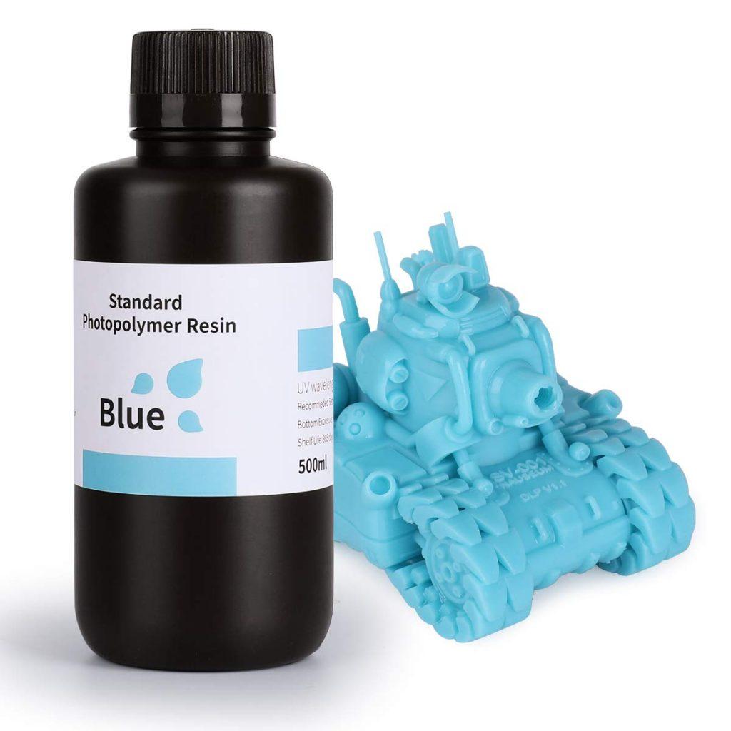 Résine pour imprimante 3D Elegoo LCD UV 405nm - bleu, 500 ml (vendeur tiers)