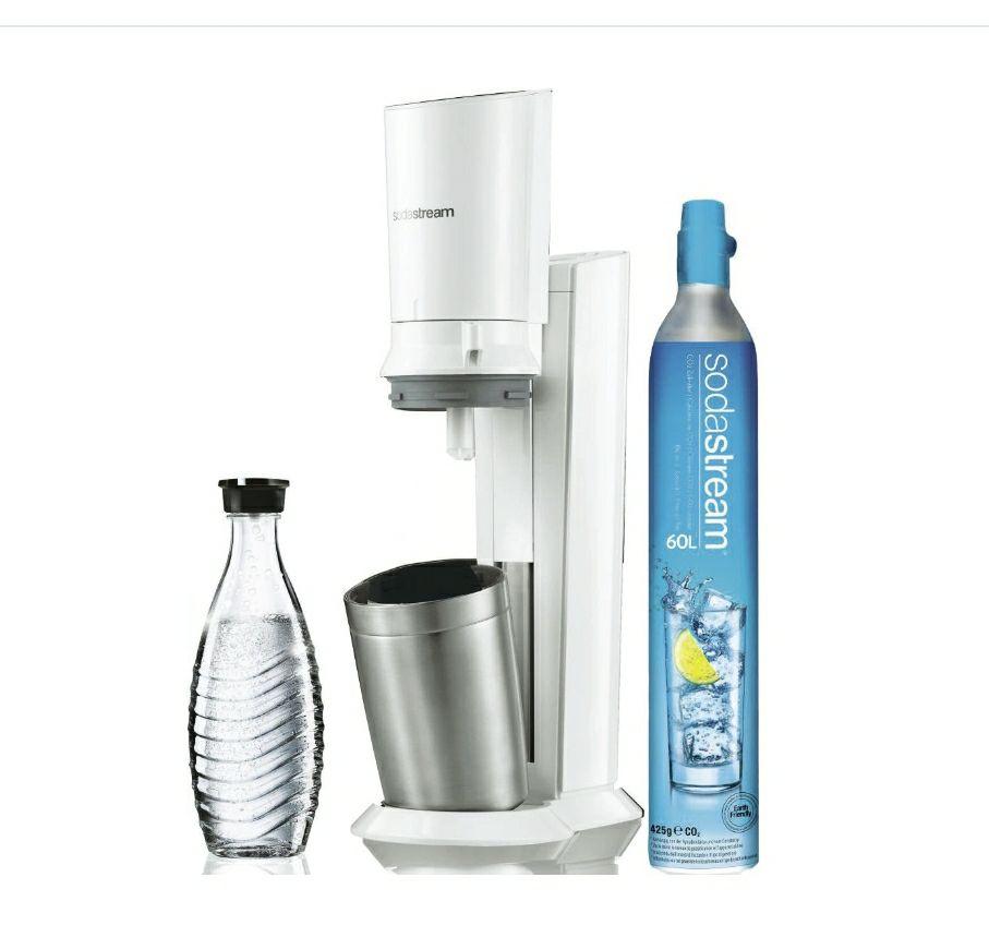 Pack machine à gazéifier Sodastream Crystal + 1 carafe + capsules de champagne et un cylindre de CO²