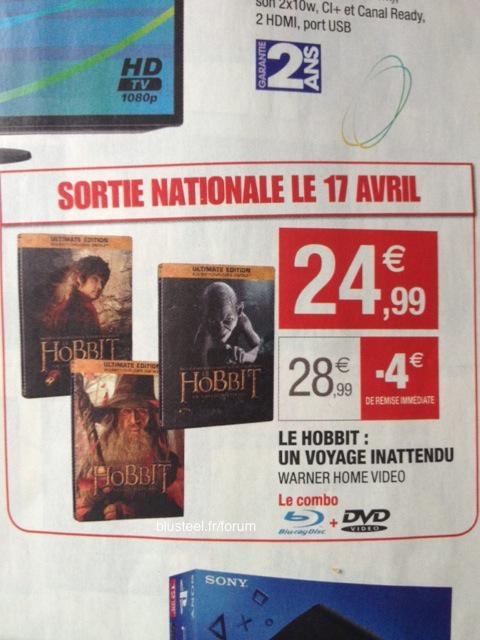 Le Hobbit Un voyage inattendu - Ultimate Edition Steelbook - 2 Blu-ray + DVD + Copie digitale