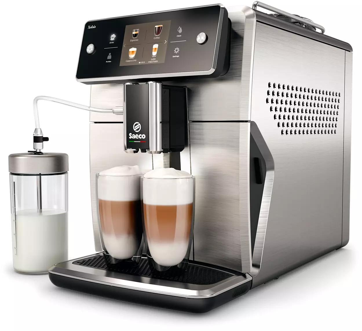 Machine à expresso automatique avec broyeur de grains Philips Saeco Xelsis SM7685/00 (via code)