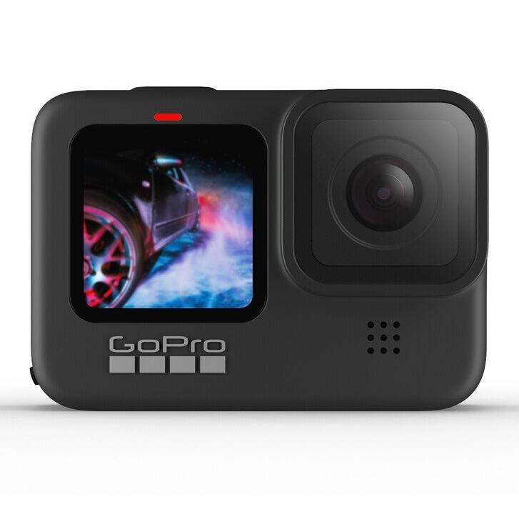 Pack caméra sportive GoPro Hero9 Black + abonnement GoPro Cloud + Carte microSDXC SanDisk Extreme (64 Go) + 2ème batterie + accessoires