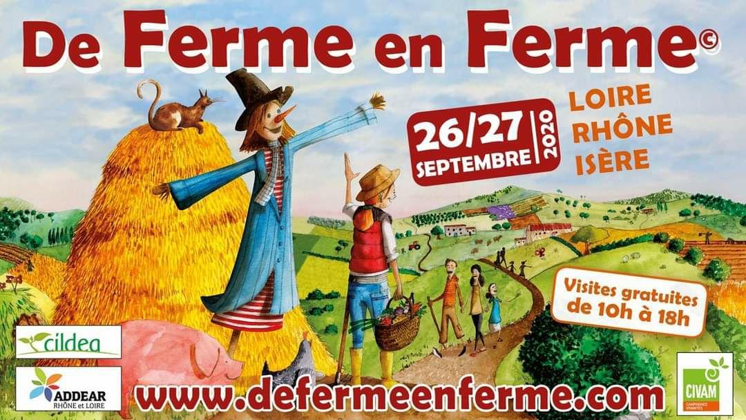 Visite gratuite de fermes les 26/27 Septembre et 03/04 Octobre (Activités et dégustations gratuites - Dans une sélection de départements)