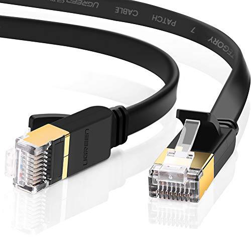 Câble plat Ethernet RJ45 Ugreen - Cat 7, 10 Gbps, 600 MHz, UFTP 8P8C (1m - Autres longueurs disponibles) - Vendeur tiers