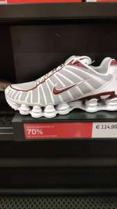 Baskets Nike Shox TL Neutral Grey Gym Red - Nike Factory Villefontaine (38)