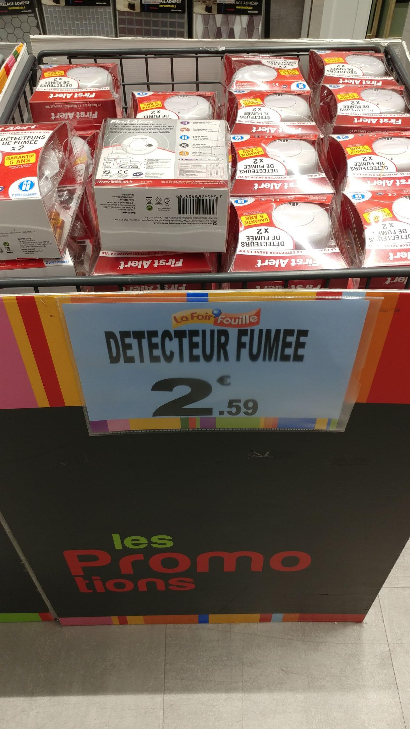 Lot de 2 détecteurs de fumée First Alert - Brest (29)