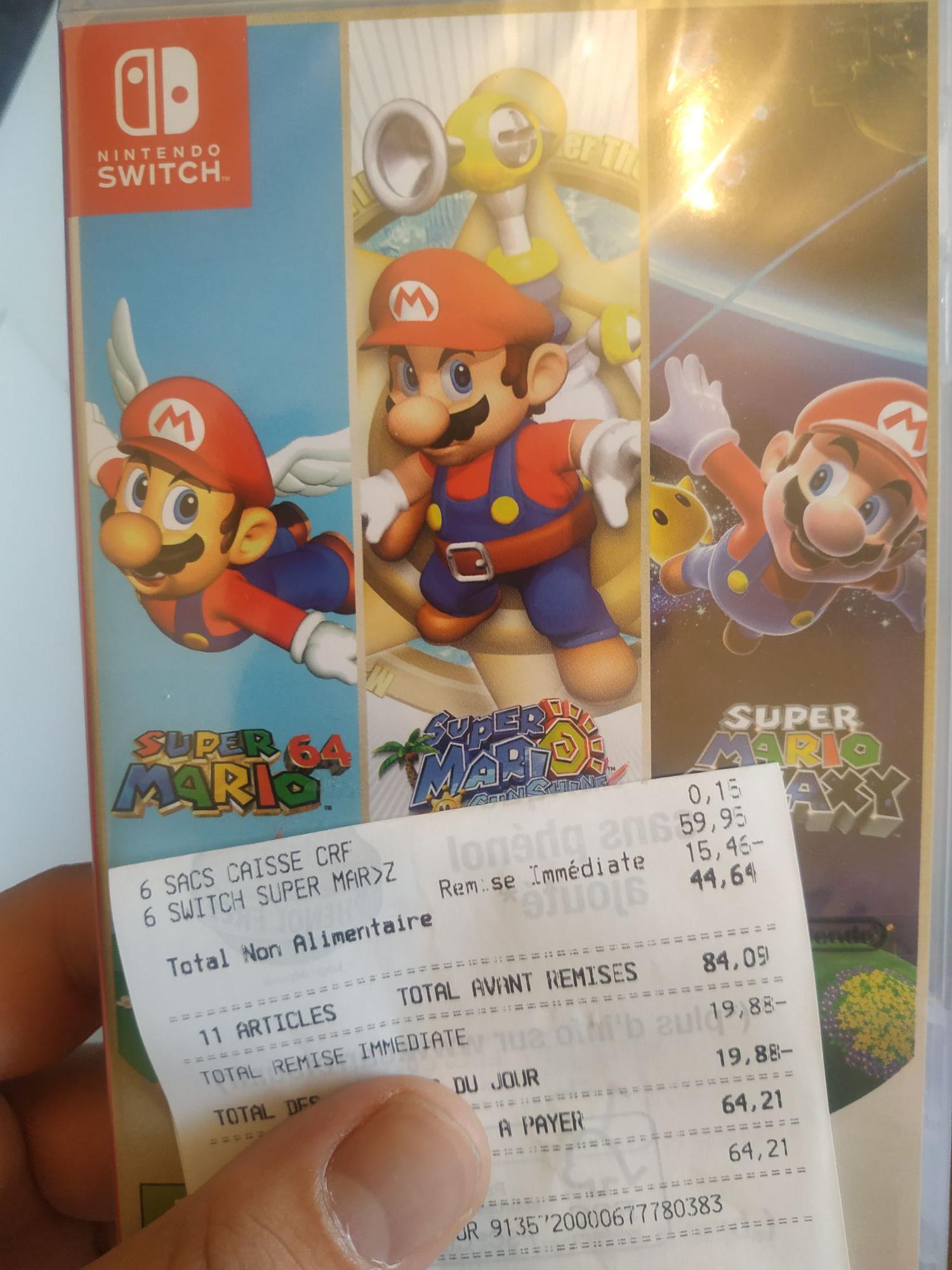Mario 3D All-Stars sur Nintendo Switch