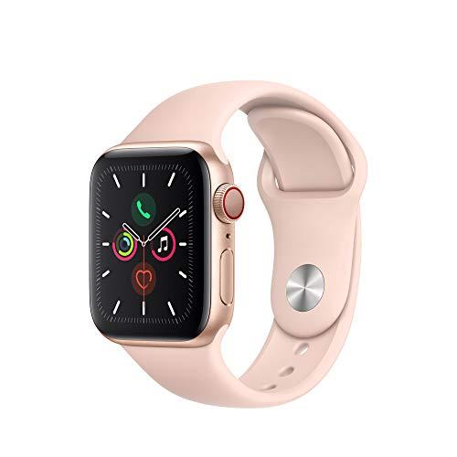 Montre connectée Apple Watch Series 5 (GPS + Cellular) - 40 mm, Boîtier en Aluminium Or, BraceletSport Rose des Sables
