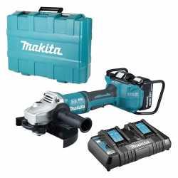 Meuleuse sans fil 36V (2x18V) Brushless Makita DGA901PG2U - Ø230mm, Fonction Bluetooth, 2 batteries 6.0Ah, chargeur rapide double, mallette