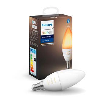 Pack de 2 Ampoules Philips Hue White Ambiance E14 - Blanc