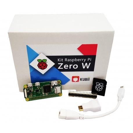 Kit mini-PC Raspberry Pi Zero W Budget (Broadcom BCM 2835, 512 Mo de RAM, Bluetooth 4.1) + adaptateurs + carte microSD SanDisk (16 Go)