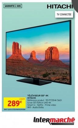 """TV 55"""" Hitachi FIT25HK 5601 - 4K UHD, Smart tv"""