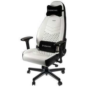 Fauteuil gamer Noblechairs ICON - Blanc / Noir