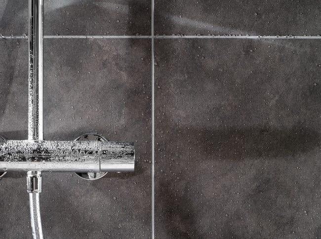 Dalle murale PVC Mystic gris mat DUMAWALL L.65 x l.37.5 cm x Ep.5 mm (Quetigny 21)