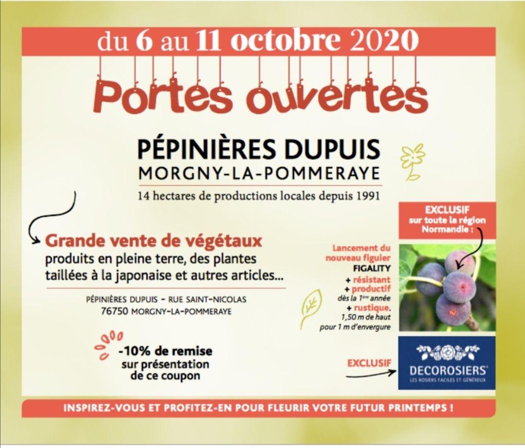 10% de remise sur l'ensemble de la Pépinière Dupuis (Morgny-la-Pommeraye 76)