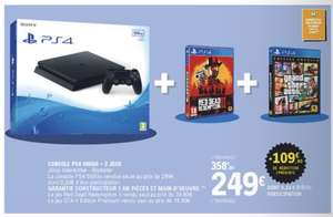 Console Sony PS4 500 Go + Red dead redemption 2 + Grand Theft auto 5 (Gta V)