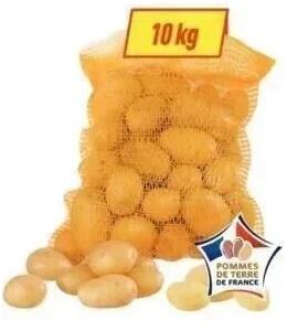 Filet de 10 kg de Pommes de Terre de Consommation - Origine France, Variétés au choix