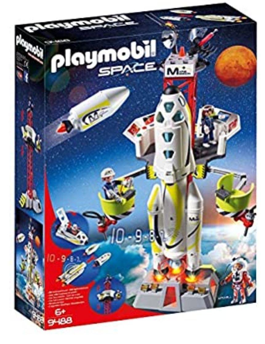 Jeu de construction Playmobil - Fusée Mars avec Plateforme de Lancement (9488)