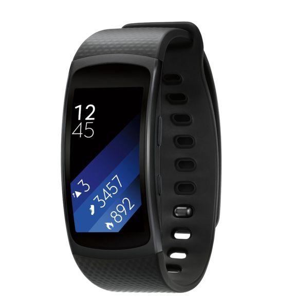Bracelet connecté Samsung Gear Fit 2 Pro - Noir, Taille L