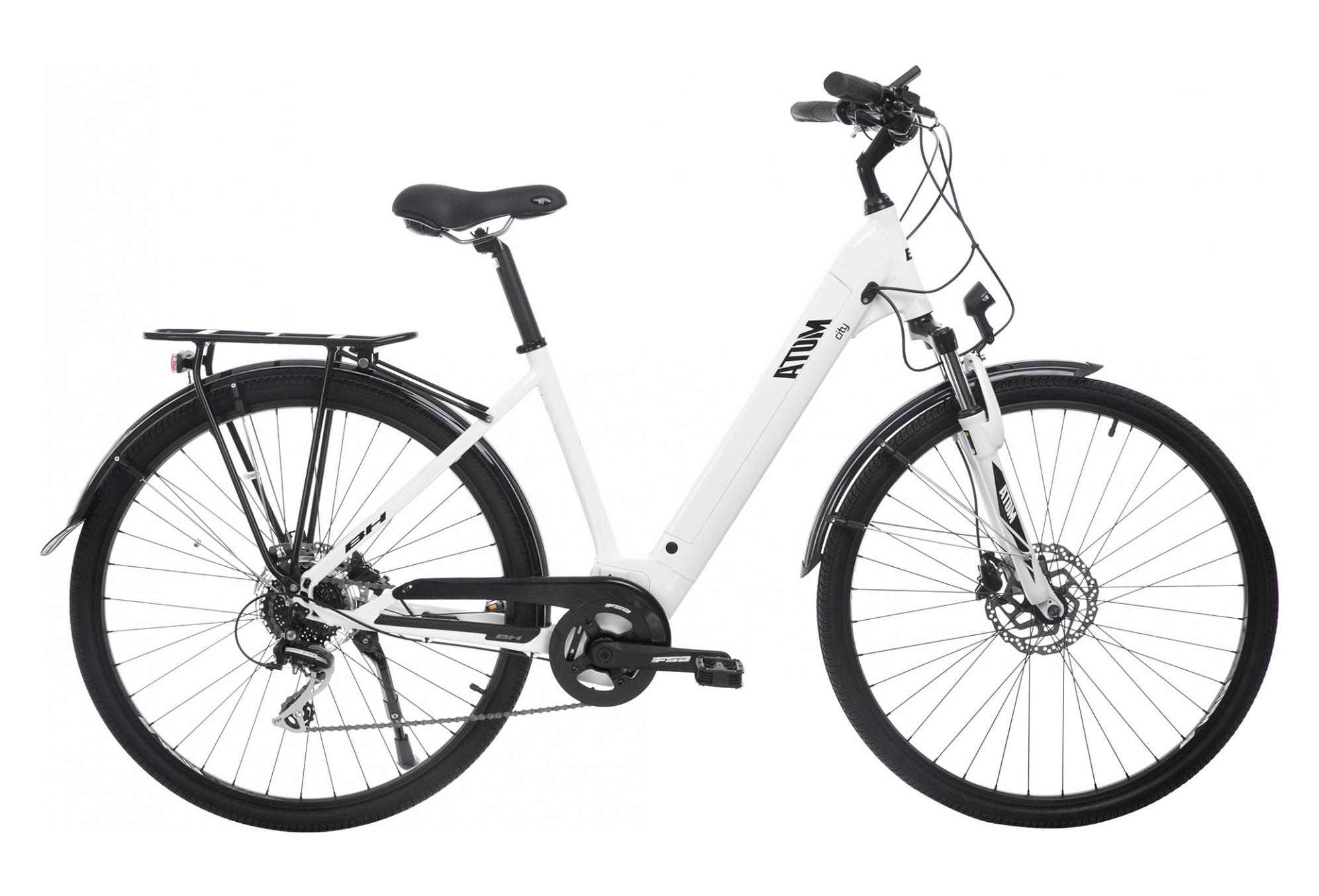 Vélo à assistance électrique BH Atom Wave City (2019) - blanc/noir, taille M