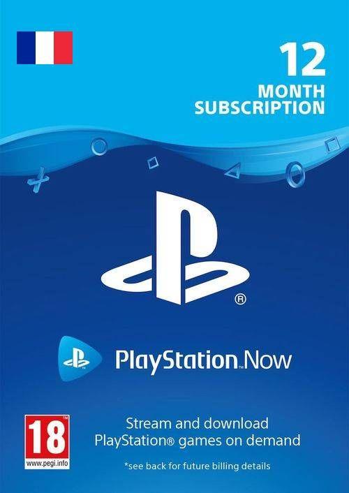 Abonnement de 12 mois au PlayStation Now (Dématérialisé)