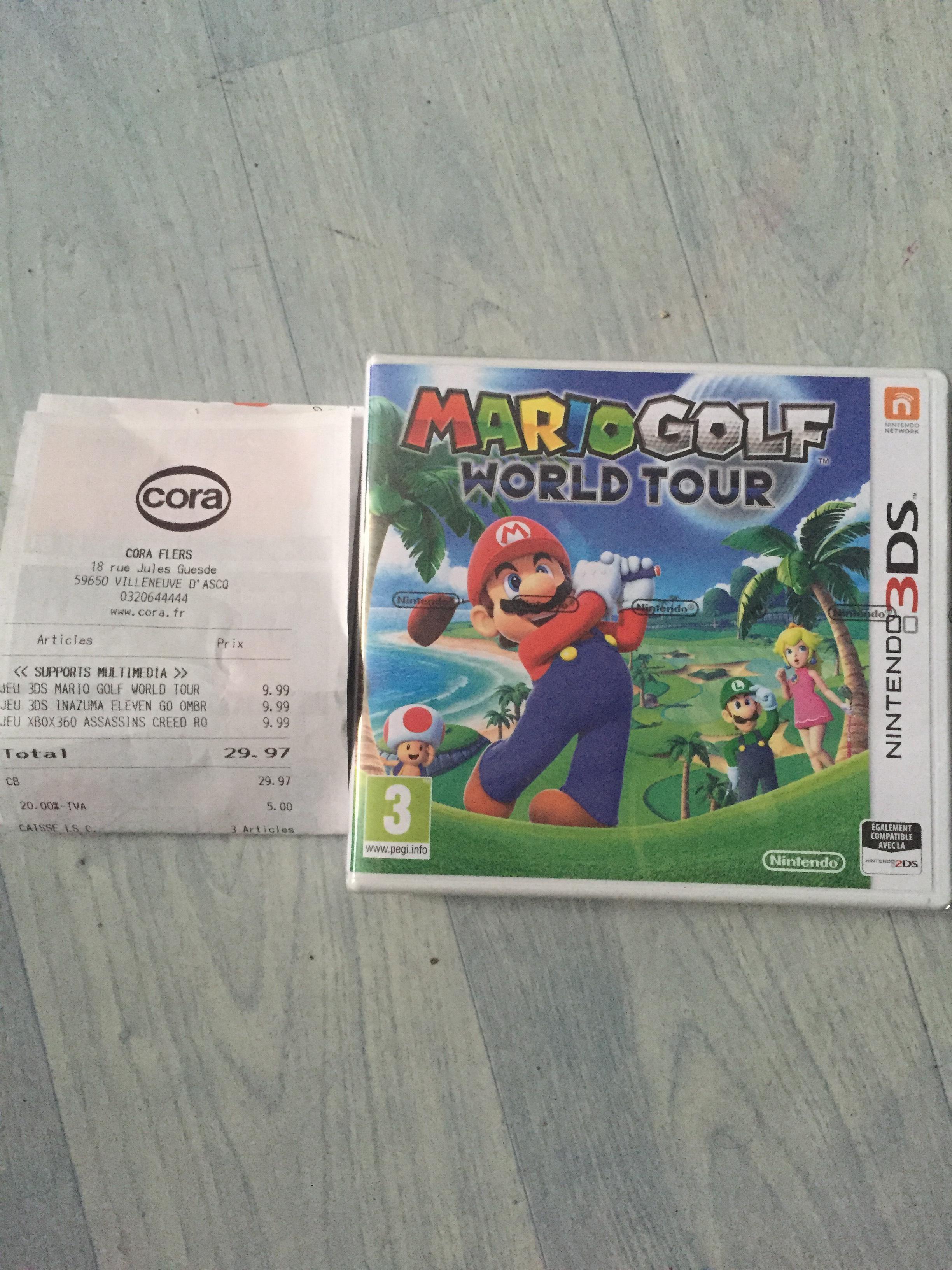 Sélection de jeux vidéo en promo - Ex : Jeu Mario Golf World Tour sur 3DS