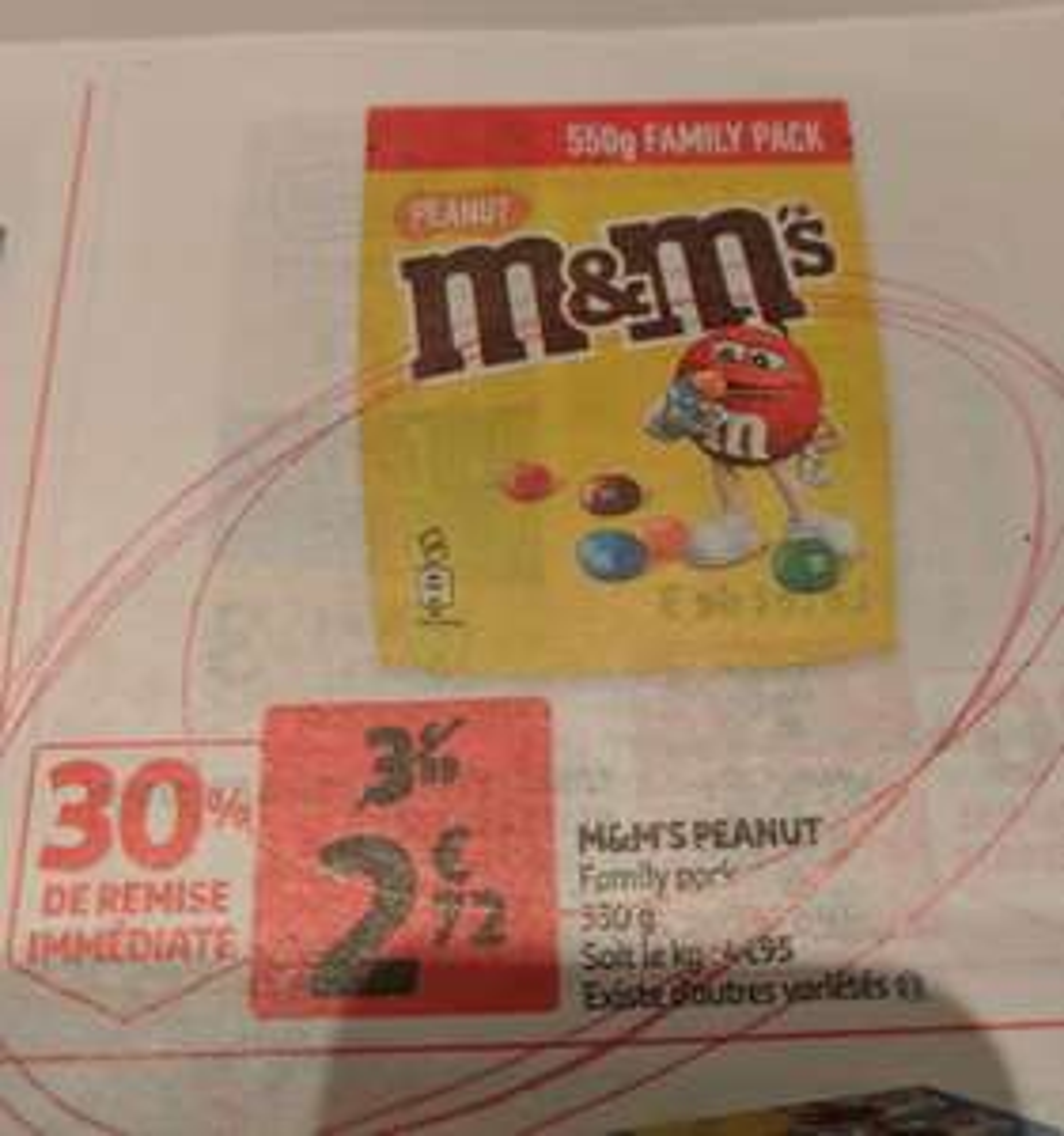 Paquet de M&M's Peanut's Family - 550g