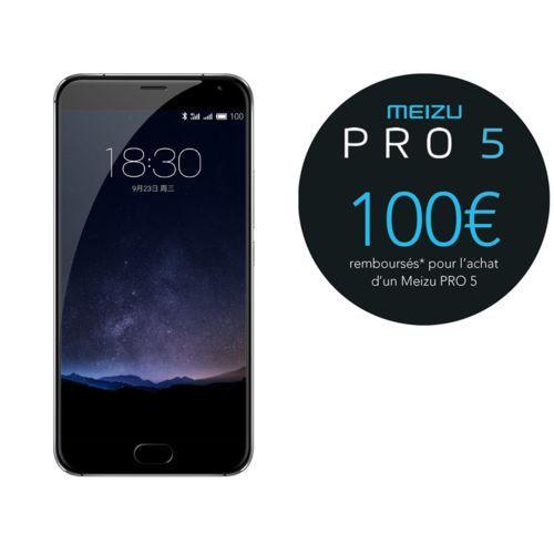 """Smartphone 5,7"""" Meizu Pro 5 - ROM 64 Go, RAM 4 Go (ODR de 100€)"""
