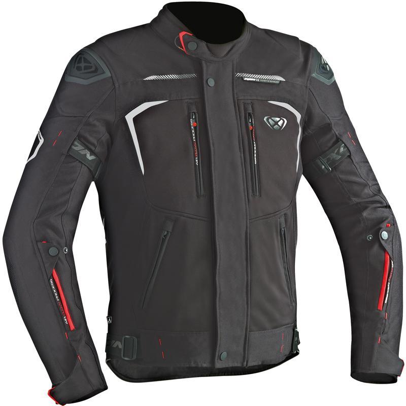 Blouson moto textile Ixon Spectrum HP - Doublure Drymesh étanche, Protections coudes et épaules homologuées, poche pour dorsale, 4 saisons