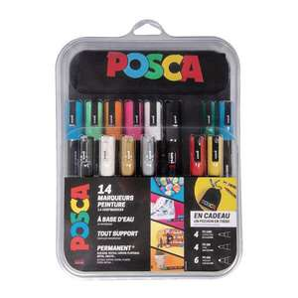 Lot de 14 marqueurs Posca