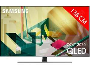 "TV 55"" Qled Samsung QE 55 Q 74T (2020) - 4K UHD, HDR 10+, Smart TV"