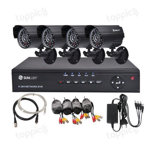 Système Surveillance Complet Enregistreur + 4 Caméra