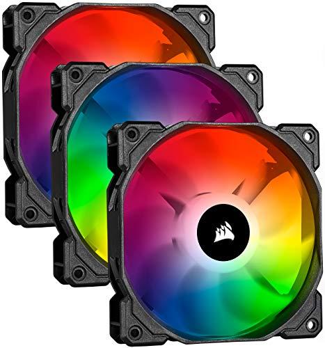 Kit de 3 ventilateurs PC Corsair iCue SP120 RGB Pro Performance - avec contrôleur Lighting Node Core, 12 cm