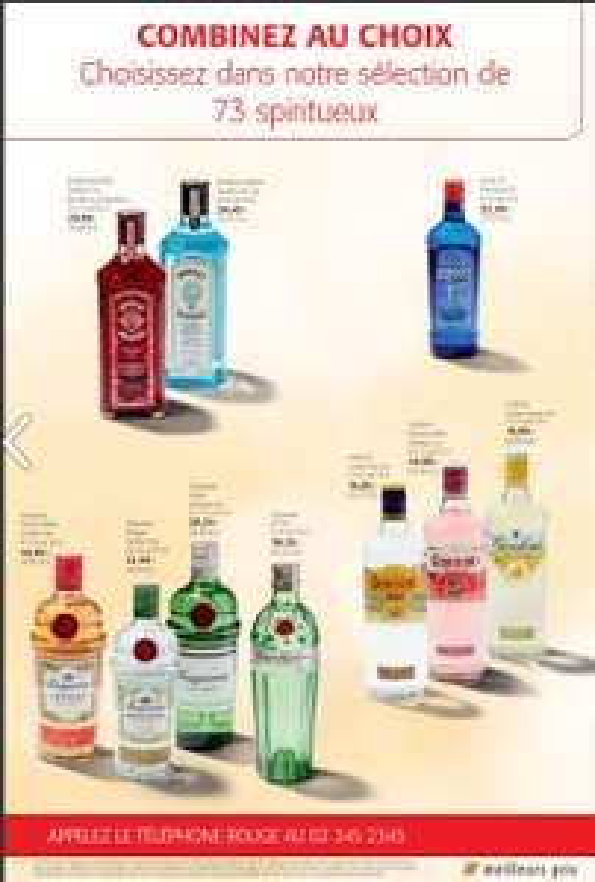 25% de remise sur les spiritueux dès 2 bouteilles achetées Xtra (Colruyt - Frontaliers Belgique)