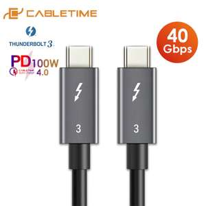 Câble USB type-C > USB type-C Power Delivery CableTime - 100 W, Thunderbolt 3, Quick Charge 4.0, 40 Gbp/s, 50 cm