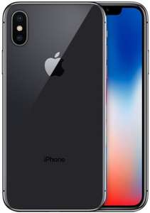 "Smartphone 5.8"" Apple iPhone X (full HD+, A11, 3 Go de RAM, 64 Go, argent ou gris) - reconditionné Reborn Grade A+ (via ODR de 50€)"