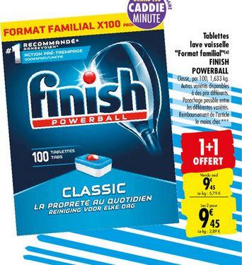 Lot de 2 paquets de 100 tablettes pour lave-vaisselle Finish PowerBall - différentes variétés, 2x100