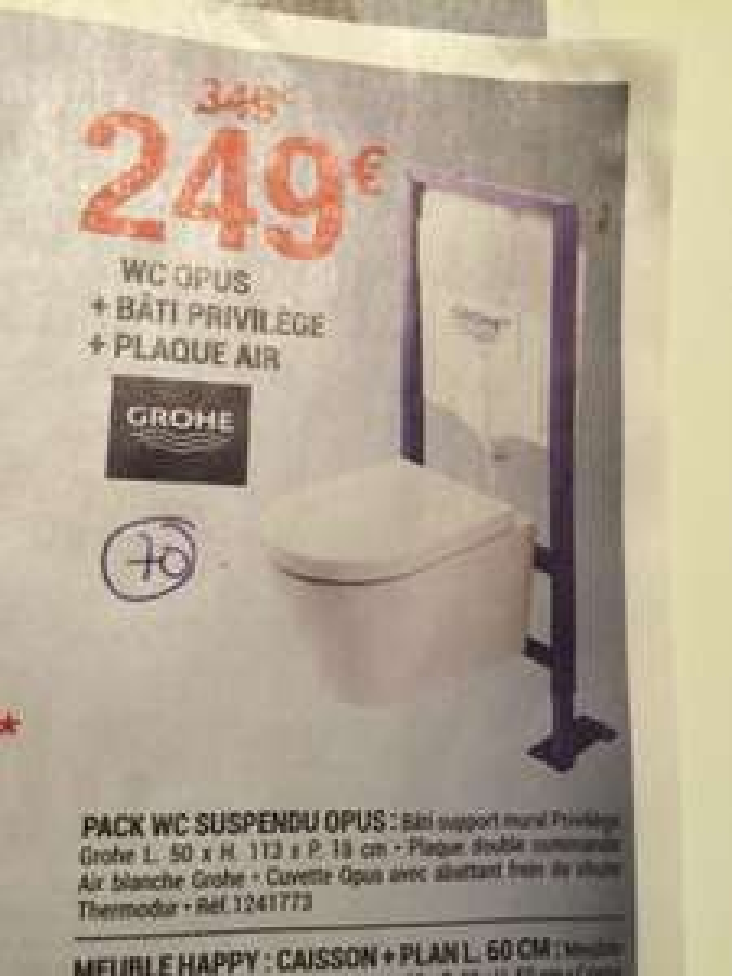 pack wc suspendu grohe opus. Black Bedroom Furniture Sets. Home Design Ideas