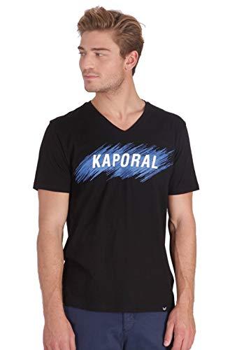 T-Shirt Kaporal Inscription en Relief - Coupe Droite, Taille S