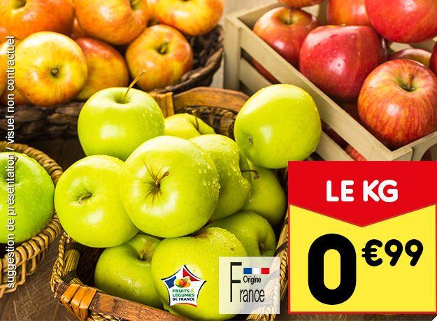Pommes Origine France Catégorie 1 (Variétés au choix) - 1Kg
