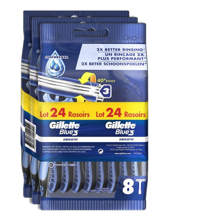Rasoir jetable Bundle Gillette B3 (Via 8.39 € sur Carte Fidélité)