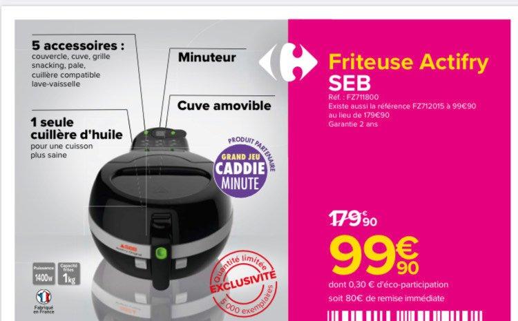 Friteuse Seb Actifry FZ711800 - 1400W