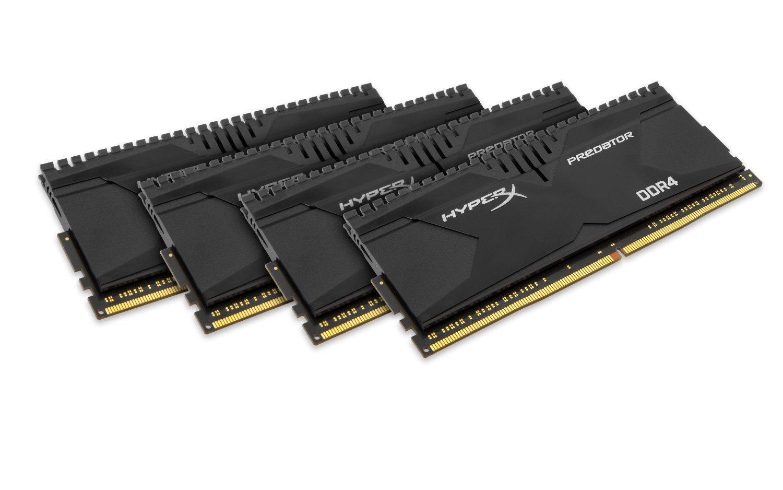 Kit mémoire Ram DDR4 Kingston HyperX Predator 16 Go (4x4 Go) - 2666MHz