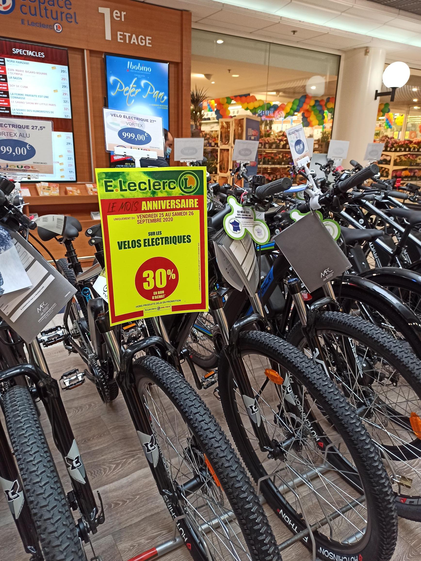 30% offerts en bon d'achat sur les vélos électriques (hors promotions) - Orly (94)
