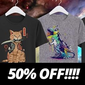 50% de réduction sur tous les tee-shirts (+ livraison gratuite & 1 masque en tissu offert dès 6 tee-shirts achetés)