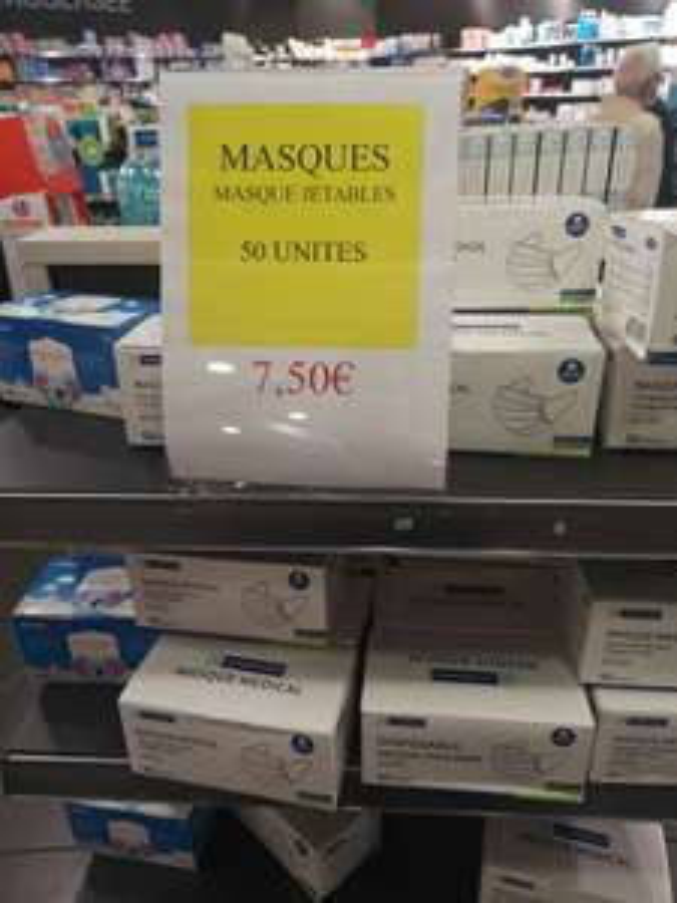 Boîte de 50 Masques chirurgicaux - Parapharmacie Auchan Illkirch Graffenstaden (67)